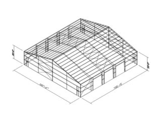 100x100 prefabricated metal building plans