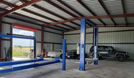 prefabricated steel auto shop building with lifts