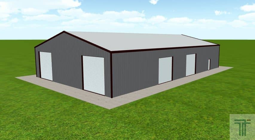 Customers find that our 80x100 metal building cost is more affordable then traditional means of construction